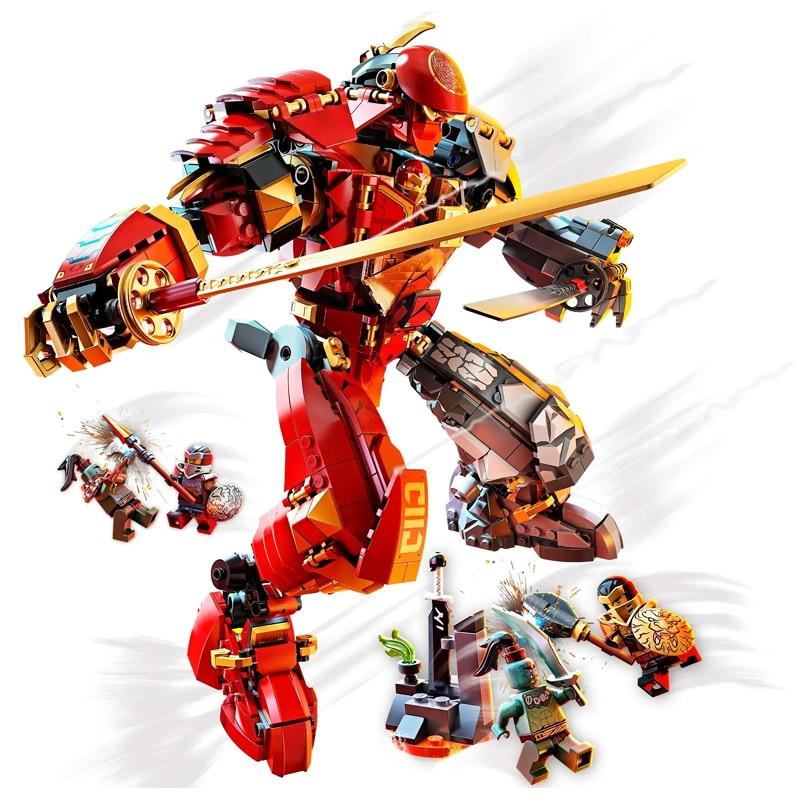 Новые Серии ниндзя кирпич камень мех Совместимость с LEGO Ninjago», 71720, строительные блоки, игрушки для детей на день рождения, подарок на Новый г...