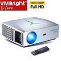 Vivibright リアルフル hd 1080 p アンドロイドプロジェクター F40/アップ | ローカル倉庫、をサポート bluetooth 3D hdmi ミラースクリーン、テレビボックスオプション