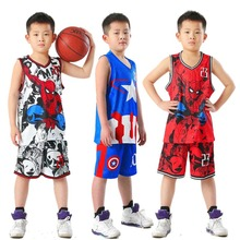 New Hot Kids Basketball Jersey Sets Boys Sports Uniforms Kits Child Clothing Breathable Youth Training Basketball Jerseys Shorts