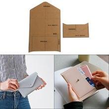 1 компл diy шаблон из крафт бумаги Модный милый и простой клатч
