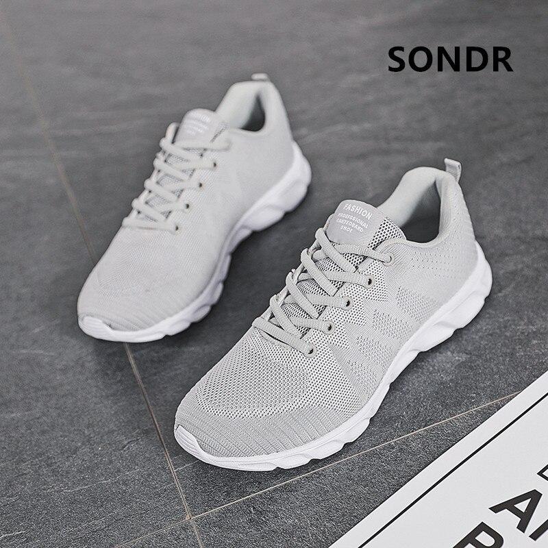 Nouvelles femmes chaussures de Sport à lacets en caoutchouc chaussures de course pour hommes respirant maille unisexe baskets chaussures Zapatillas Hombre Deportiva