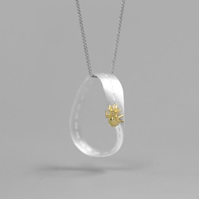INATURE, collares con colgante de La Hormiga Moebius, collares con gargantilla de cadena de plata fina 925 para mujer, joyería