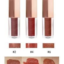 New 6 color Lip gloss Shimmer Liquid Organic Lipgloss Private Label Custom Logo