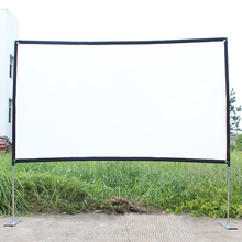 Pipe-Connection Projector-Screen Outdoor Movie Home Stable-Base 100inch-120inch Theater