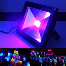 UV LED Floodlight 10W 30W 50W High Power Ultra Violet Detection Flood Light IP66-Waterproof Black Light Party Neon Lighting цена 2017