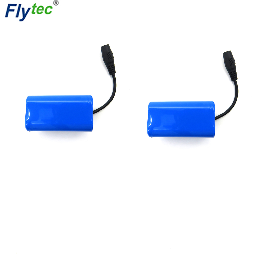 1PCS/2PCS Flytec 2011 5 Generation Fishing 38.48Wh 5200mAh 7.4V 65*36*36mm Lipo Battery for Bait RC Boat Spare Parts Accessories|Parts & Accessories| |  - title=