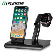 Wireless Charger Stand QI Charging Dock Station Holder For Apple Watch 5 4 3 2 1 iWatch iPhone 11 Pro Max X XS XR 8 Plus Docking(China)