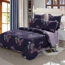 YAXINLAN nevresim takımı saf pamuk Noctilucent iki renk bitki çiçek çiçek desenleri yatak çarşafı yorgan kapak yastık kılıfı 4 7 adet
