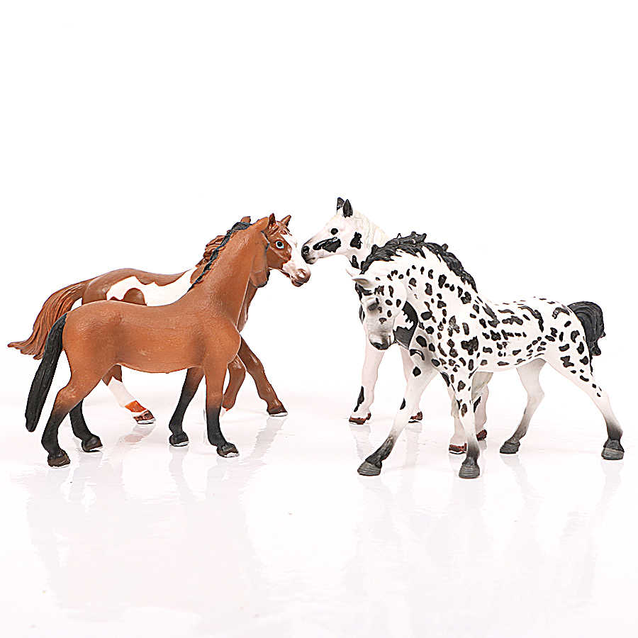 Gerçekçi At Figürleri çiftlik Hayvanları Modeli Aksiyon Figürleri, At koleksiyonu çiftlik istikrarlı şekilli kalıp Çeşitli Kek Toppers Hediye