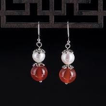 Женские серьги из серебра 925 пробы с жемчугом