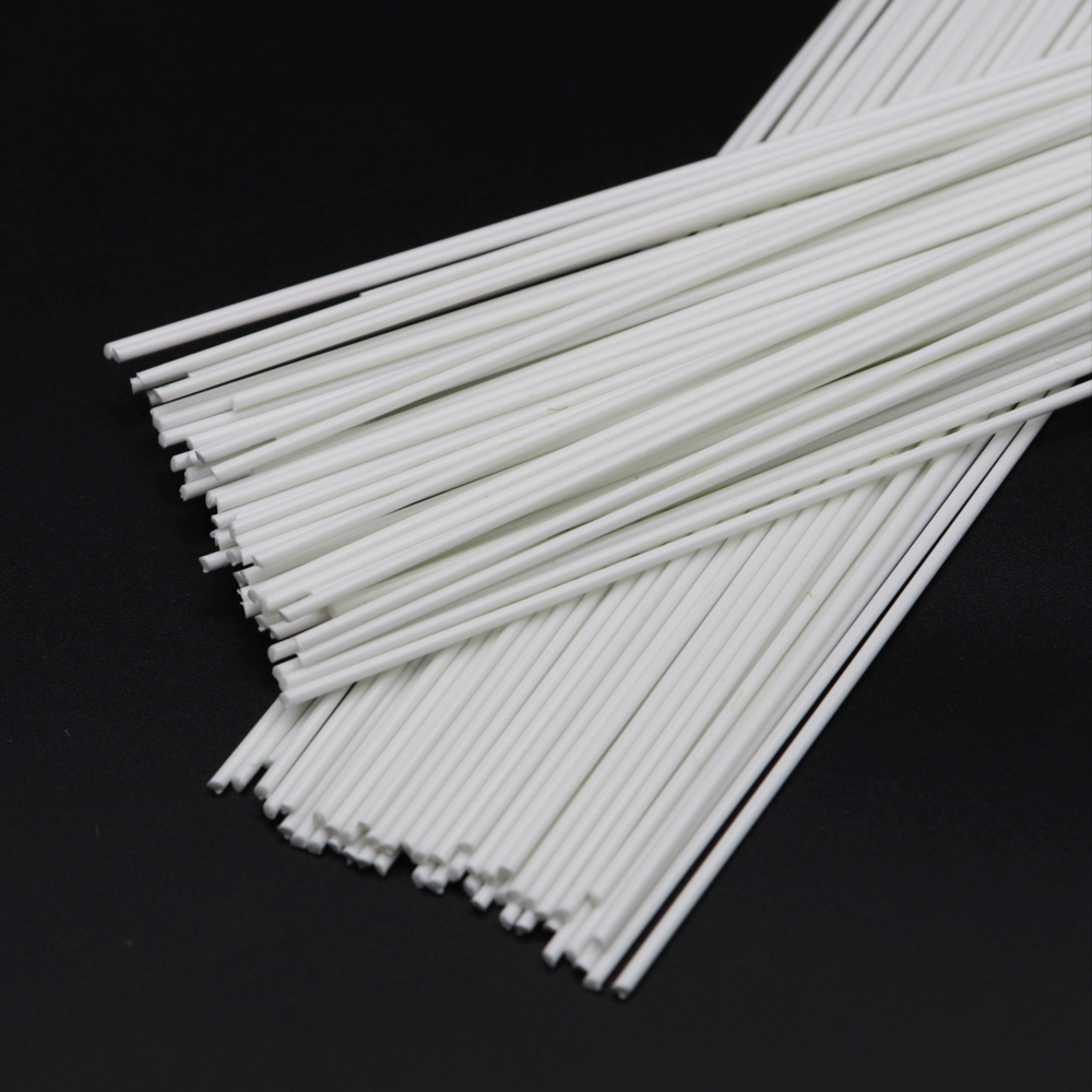 1mm White Round Stick ABS Plastic Model Toy Round Stick Length 50cm Sand Table DIY Diorama Landscape Architecture Train 100pcs