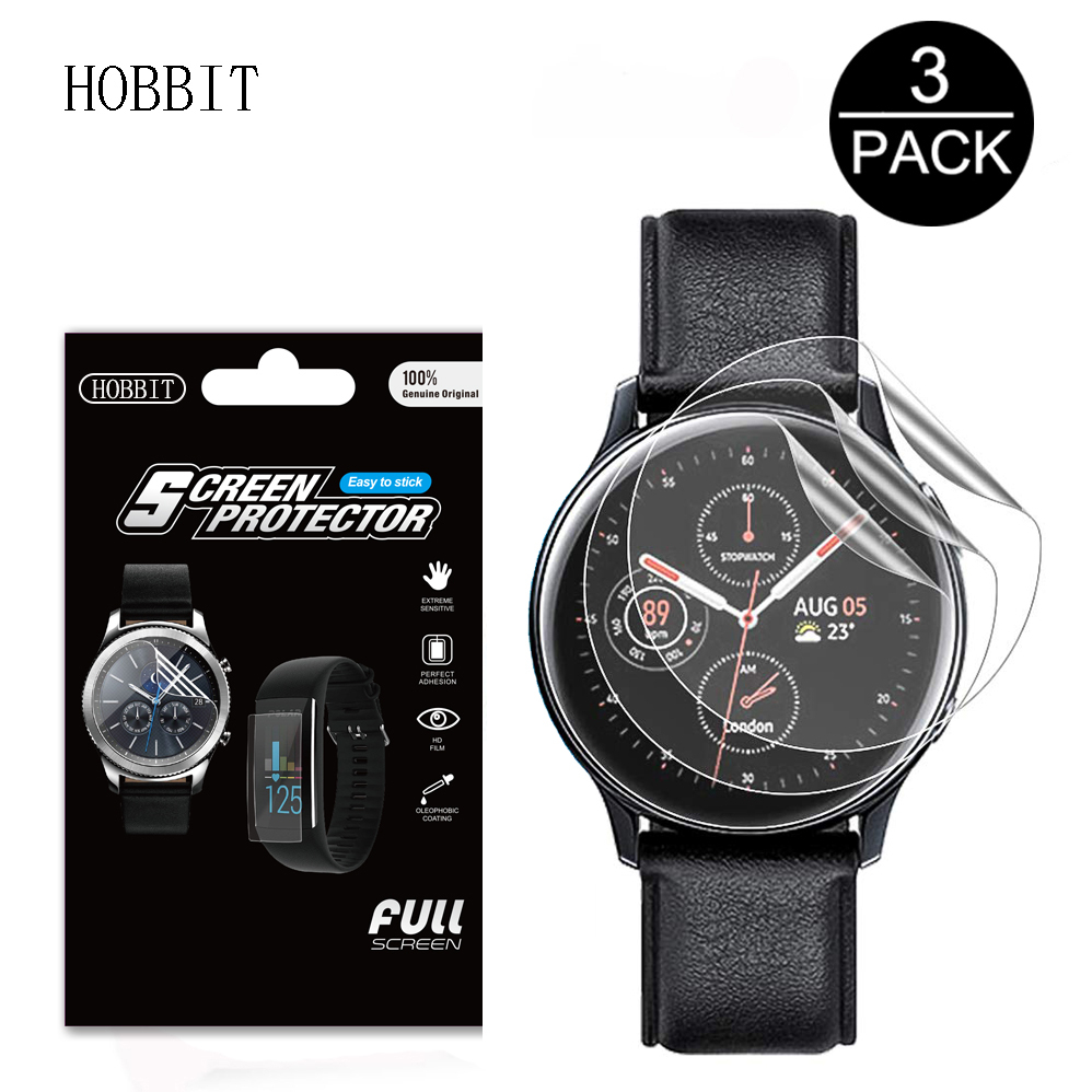 3Pack 5H For Samsung Galaxy Watch Active 2 40mm 44mm Smart Watch TPU Nano Explosion-proof Anti-shock HD Screen Protector Film