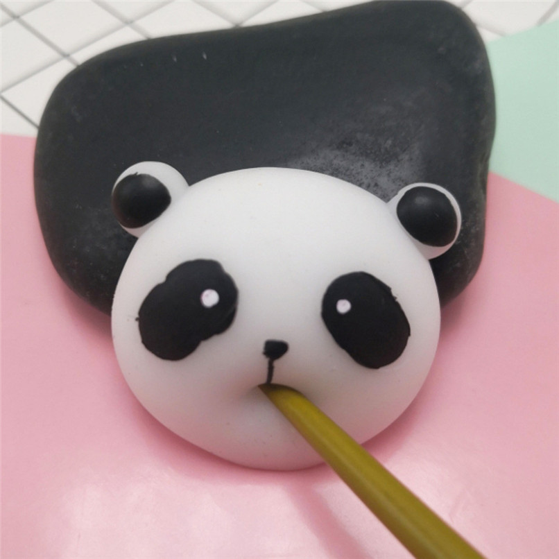 Cute Squishy Mini Small Mochi Squishy Panda Squeeze Healing Fun Kids Kawaii Toy Stress Reliever Decor Toy Gift Pendant 40D05
