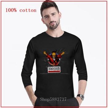 Thunderdome Die Hard Tees camiseta negra para hombre Logo de los cazafantasmas Tops Die Hard Group Camiseta de manga larga ropa de algodón puro