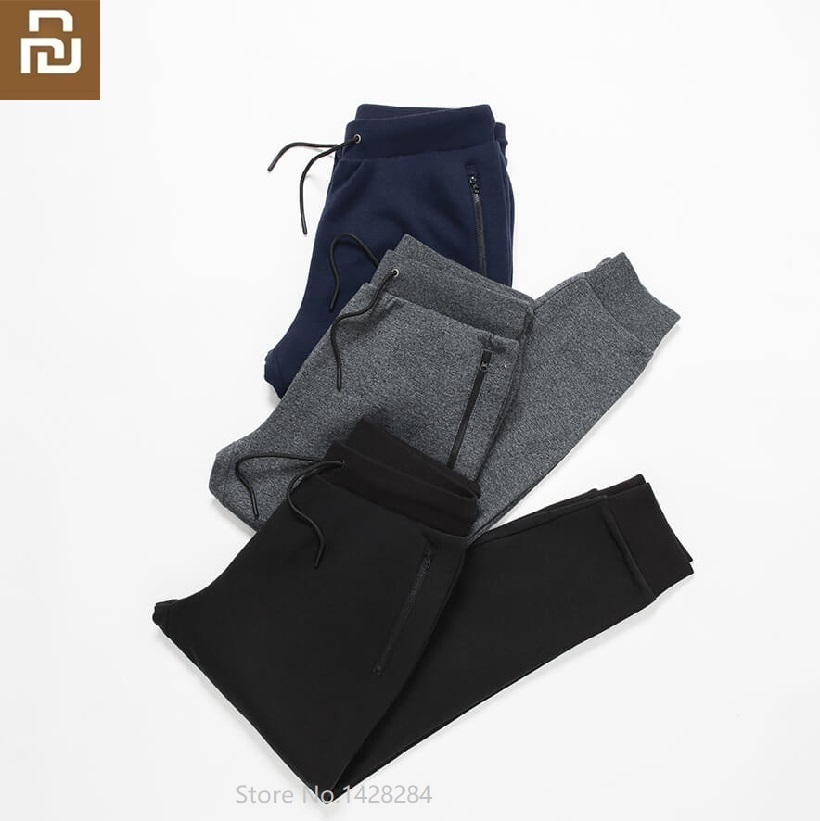 Youpin  Life Men's Fleece Pants Soft And Refreshing Leisure Sports Pants Male Loose Cotton Trousers High Elastic  Sweatpants
