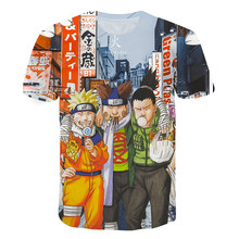 2021 Summer New Children's T-shirt Japan Harajuku Anime Cartoon Fun Boys Girls Oversized Short Sleeve Tops