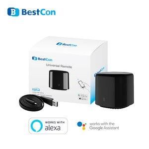 Image 1 - Broadlink RM4C Mini commutateur WIFI de mouvement de haricot noir télécommande intelligente IR domotique intelligente fonctionne avec Google Home