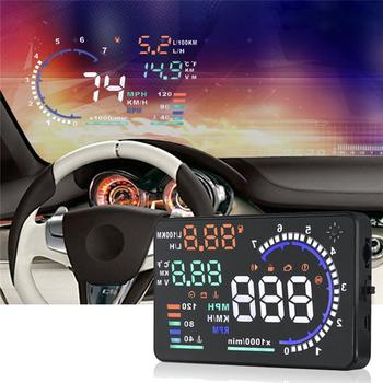Universal A8 5.5 Inch HUD Car Head Up Display Car Alarm System OBDII Speed Warning Fuel Consumption Data Diagnostic