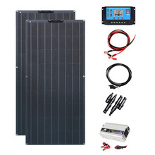 Solar panel Kit 240 w flexible module 2 PCs 120 w 18 v solar panels for RV caravan boat car battery 12 v power