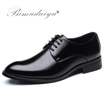 BIMUDUIYU Brand Classic Man Pointed Toe Dress Shoes Mens Patent Leather Black Wedding Shoes Oxford Formal Shoes Big Size handmade genuine patent leather brand men wedding shoes fashion italian designer formal mens dress shoes big size 6 10