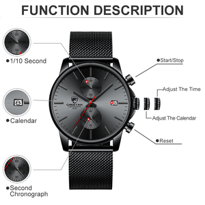 Image 4 - Mens Watches Top Luxury Brand Men Fashion Business Watch Casual Analog Quartz Wristwatch Male Waterproof Clock Relogio Masculino