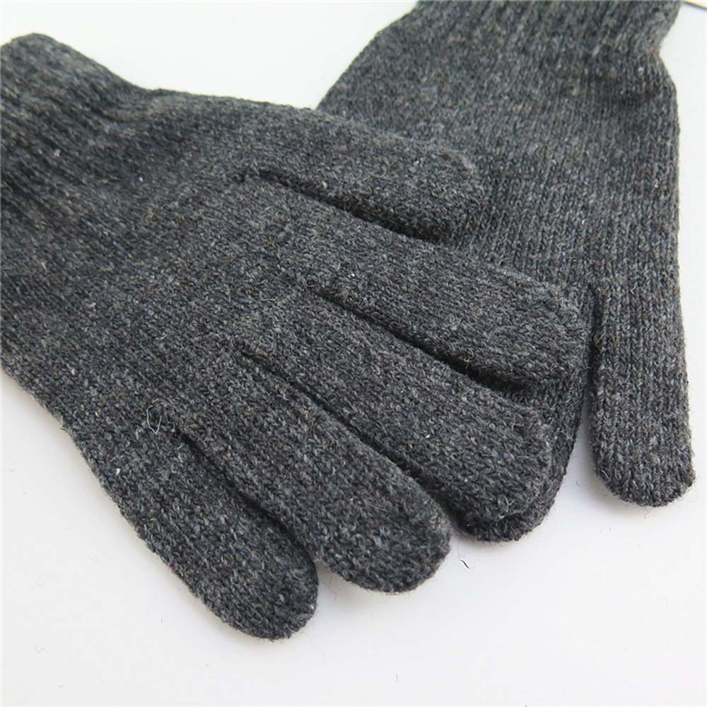 Leisure Snow Thickening Wool High Stretch Knit Five Finger Magic Gloves Hugh Men And Women Warm Winter Gloves Warm