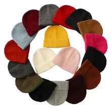 Детская шапка всех цветов для мальчиков и девочек теплая зимняя