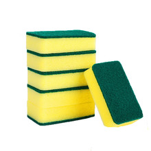 Dishwashing Sponge Kitchen Nano Emery Magic Clean Rub Pot Rust Focal Stains Sponge Double-sided Decontamination Cleaning #R20 mac duo sided sponge