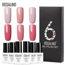 Nova 6 pçs/set ROSALIND Vernis top coat Polonês Gel Da Arte Do Prego Manicure Semi Permanente LED UV Gel Verniz Soak Off gel Unha Polonês(China)