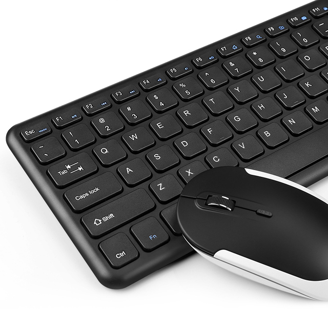 2.4G USB Wireless Keyboard Mouse Combo Ergonomic Keyboard Optical Gaming Mouse For Macbook Lenovo Dell Asus HP Laptop Computer