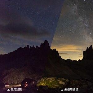 Image 2 - Optische Glas 52 Mm 55 Mm 58 Mm 62 Mm 67 Mm 72 Mm 77 Mm 82 Mm Clear Night natuurlijke Nacht Filter Lichtvervuiling Filter Voor Camera Lens