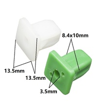 3.5mm Fast screw seat Nut & Grommet Clip wire nail White Green Retainers 30Pcs Wholesale