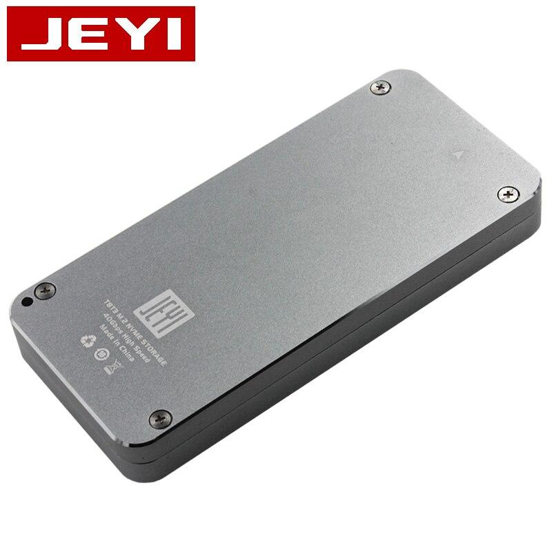 Boîtier mobile JEYI thunderbolt 3 m.2 nvme boîtier boîtier NVME à TYPE-C en aluminium TYPE C3.1 m. 2 USB3.1 M.2 PCIE U.2 SSD LEIDIAN-3 - 6