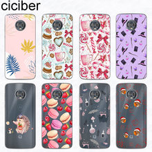 ciciber Phone Case for Motorola Moto G6 G5 G5S E5 E4 C ONE Z2 Z3 G4 Plus Play M X4 P30 Power Note TPU Cover Lollipop Witch Coque(China)