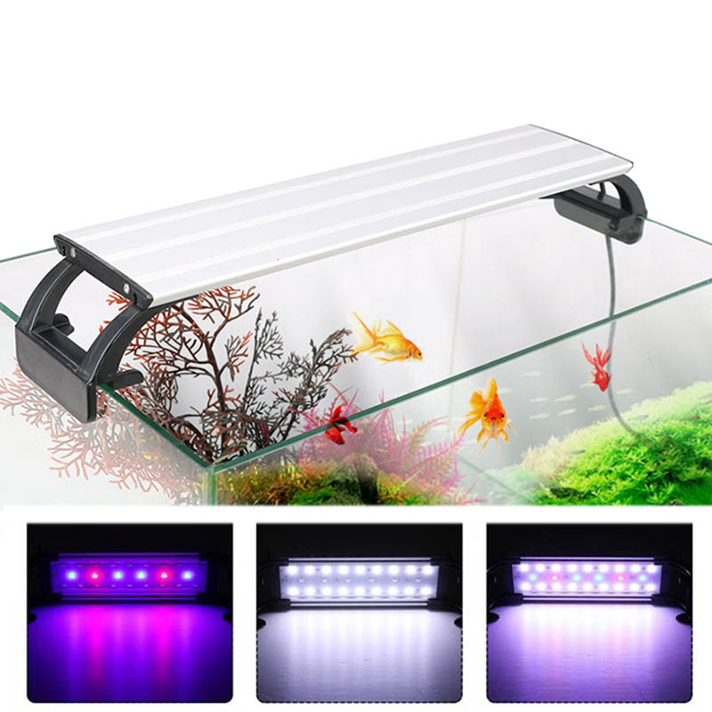 Aquarium Light LED Lighting 20 65CM Fish Tank Lamp Aquatic Plant Lights Fishing Led RGB Indoor Decoration With Timer and DimmingLED Grow Lights   -