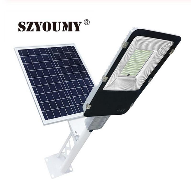 SZYOUMY Led Solar Street Light Outdoor Led Solar Light Waterproof Solar Panel Remote Control 200W Solar Led Street Garden Light