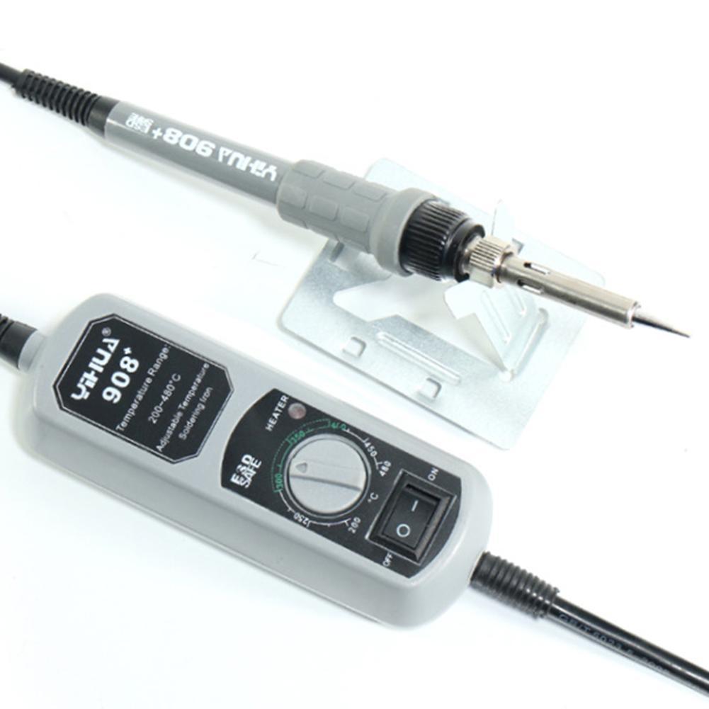 solda elétrica ajustável temperatura constante ferro de solda elétrica com 220 v 60 w