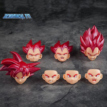 Tronzo Demoniacal Fit Dragon Ball Goku Vegeta Rood Haar Super Saiyan God Vervangen Head Sculpt Accessoires Voor Bandai Shf Cijfers(China)