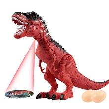 Elektronik simülasyon dinozor oyuncak gerçekçi T Rex yürüyüş figürü ışıkları ses Model oyuncaklar çocuklar için noel hediyesi oyuncaklar