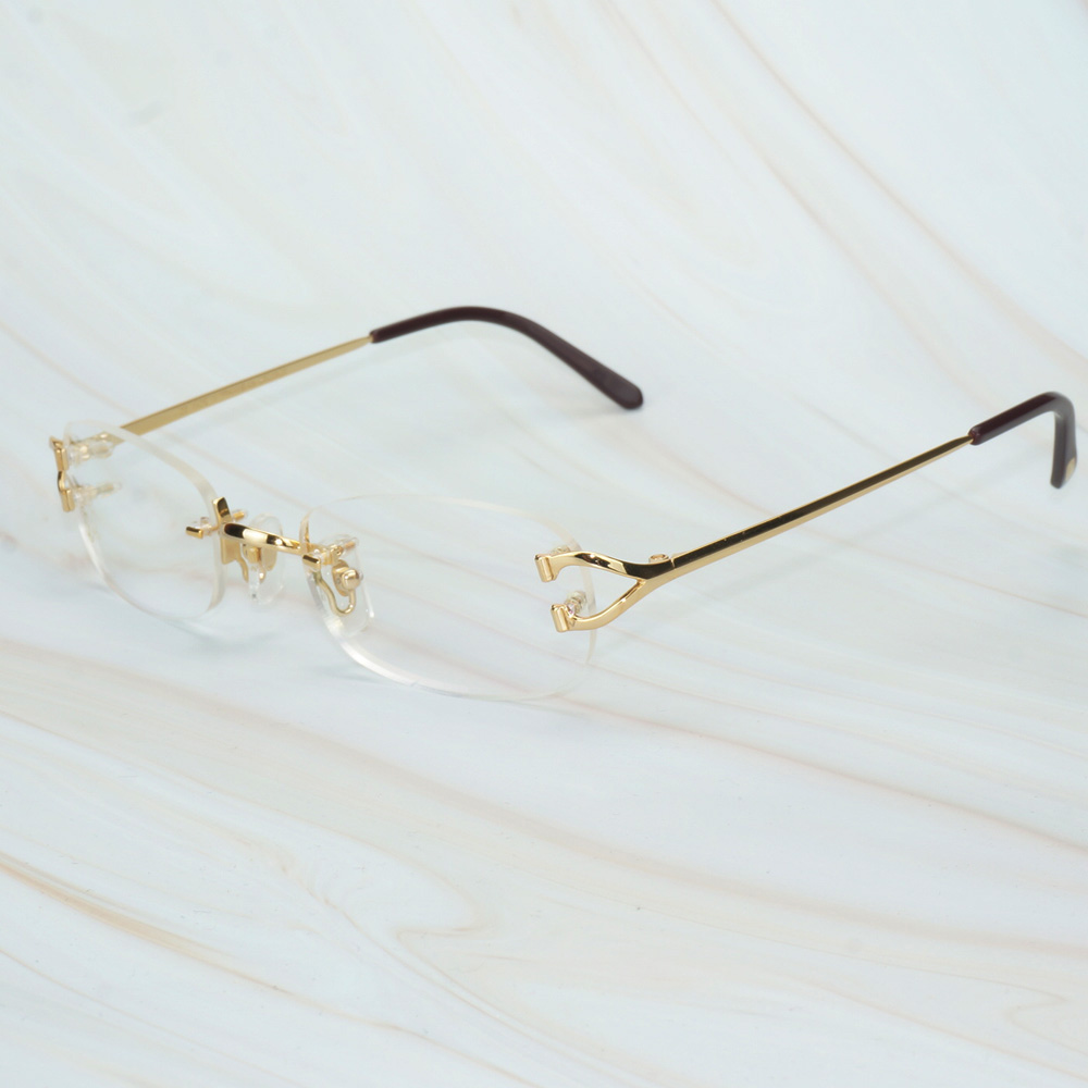 Vintage Glasses Frame for Men Women Luxury Designer Carter Glasses Clear for Computer Office Decoration Eyeglasses for Wedding