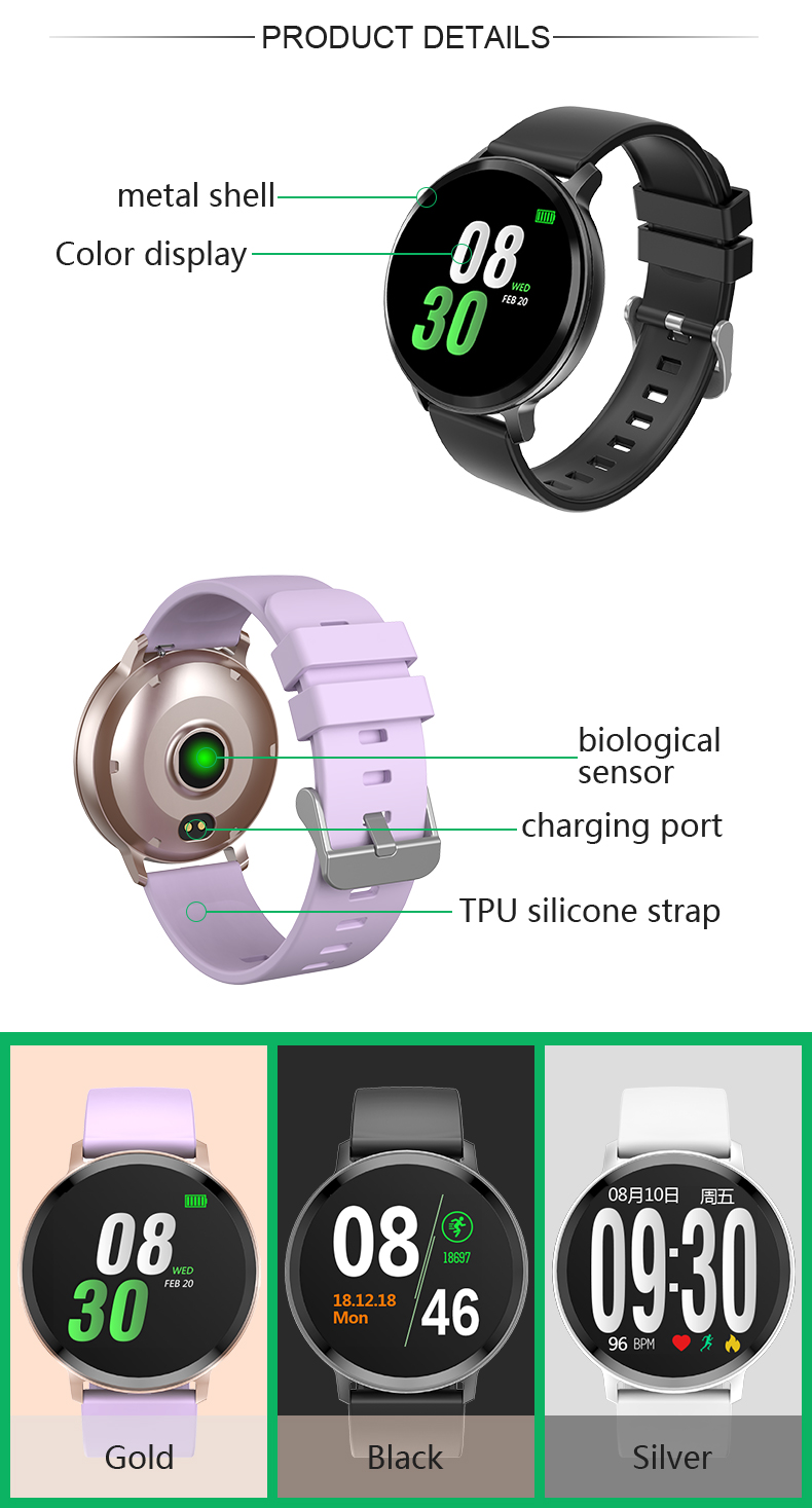 S8 montre intelligente Bluetooth