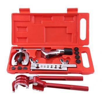 Kit de reparación de tubo de combustible de frenos con herramienta de doblado de 11 piezas, Kit de abrazadera, cortador de tubo