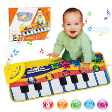 Large Baby Musical Carpet Keyboard Playmat Music Play Mat Piano Early Learning Educational Toys for Children Kids Puzzle Gifts цена и фото