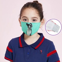 Children's-Masks Breathable Mask Halloween Cosplay Mouth Cotton for Cute Kids
