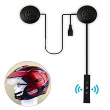 цена на 1set 6Hours Bluetooth 4.1+EDR Anti-interference For Motorcycle Helmet Riding Hands Free Earphone Black