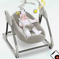 Fauteuil à bascule électrique 0-3y bébé maison inclinable berceau lit avec bébé pour dormir Parents coaxial bébé Assistant nouveau-né apaisant chaises