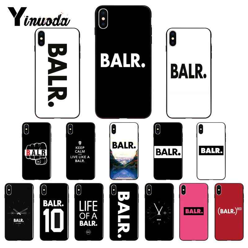Yinuoda Cool balr log DIY Luxury High-end Protector โทรศัพท์สำหรับ iPhone 8 7 6 6S 6 plus X XS MAX 5 5S SE XR 10 ฝาครอบ