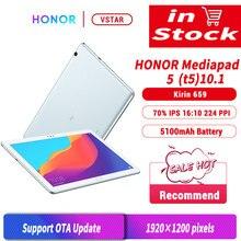 Original huawei honra mediapad t5 10.1 polegada 4gb 64gb tablet pc kirin 659 octa núcleo android 8.0 honra tablet 5 impressão digital desbloqueio