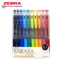 זברה SARASA JJ15 צבעוני ג ל עט עיתונות תלמיד חשבון ציור אספקת ג ל עט 0.5mm יפן 10 צבעים סט