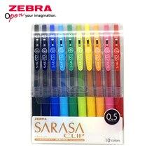 Zebra SARASA JJ15 Bolígrafo de Gel colorido, suministros de pintura para cuenta de estudiante, bolígrafo de Gel de 0,5mm, juego de 10 colores de Japón